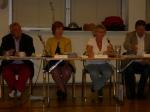 Fr.v: Carl-Axel (m), Christina (sekr.), Marianne (s), Anders (stadsdelschef)