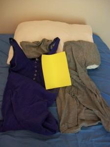 Kudde, klänning, disktrasa, tröja
